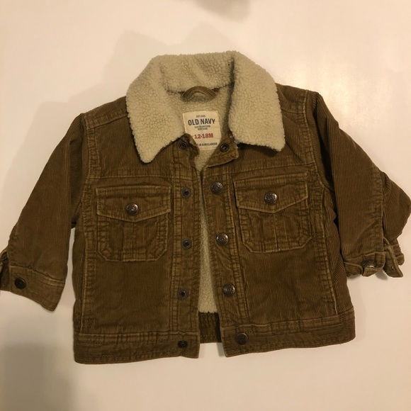 Old Navy Other - Old Navy 12-18M Snap Button Corduroy Jacket